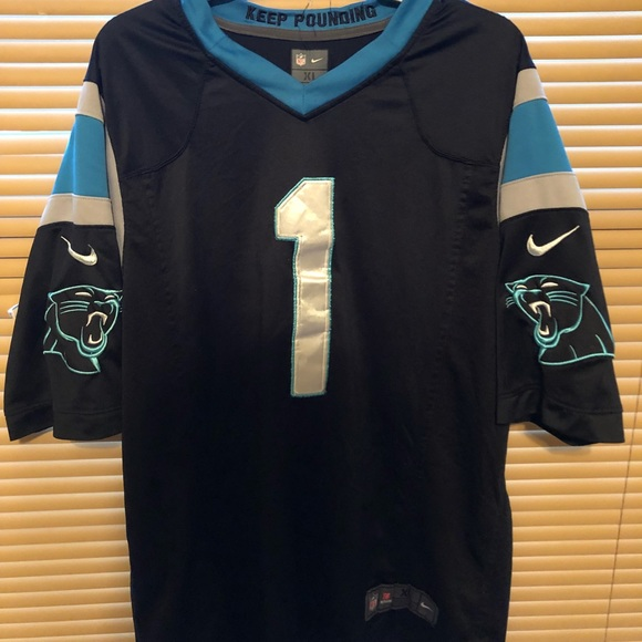 new products 884a0 be793 Cam newton panthers jersey